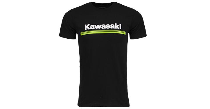 T-Shirt Kawasaki à logo 3 lignes verte detail photo 1