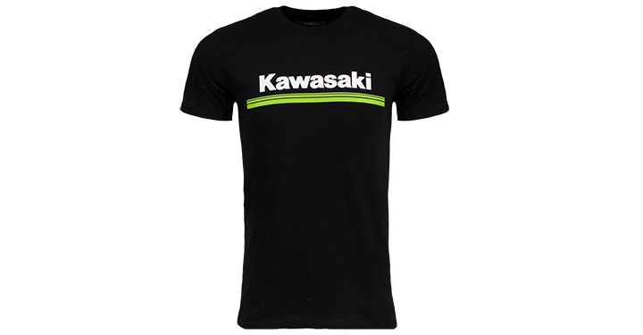 Kawasaki 3 Green Lines Logo T-Shirt detail photo 1