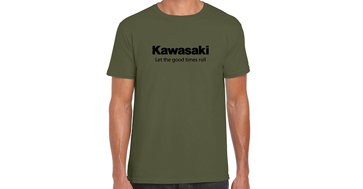 Kawasaki Let the good times roll T-Shirt, Military Green detail photo 1
