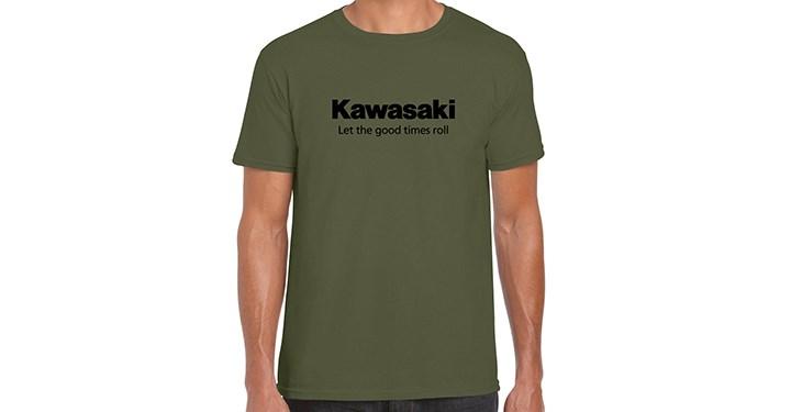 Kawasaki Let the good times roll T-Shirt, Military Green detail photo 1