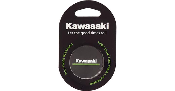 Support de téléphone portable Kawasaki à logo 3 lignes verte detail photo 1