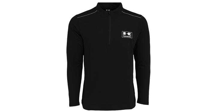Sweat-shirt polaire de performance à 1/4 zip Kawasaki detail photo 1