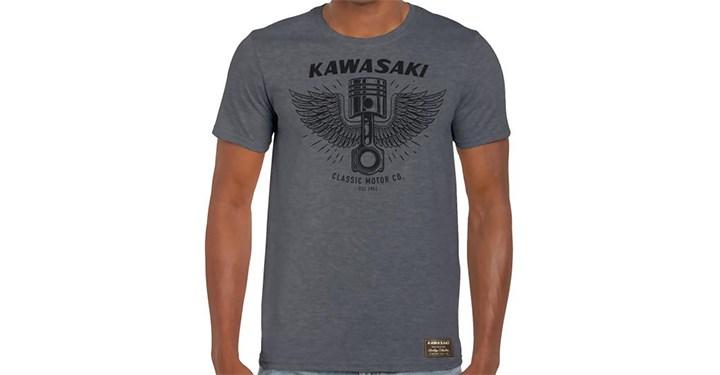 Kawasaki Heritage Piston/Wings T-Shirt detail photo 1