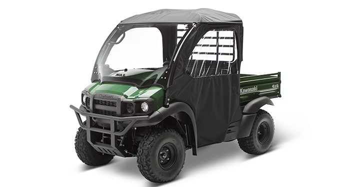 Soft Cab Enclosure Roof and Back, Black detail photo 1