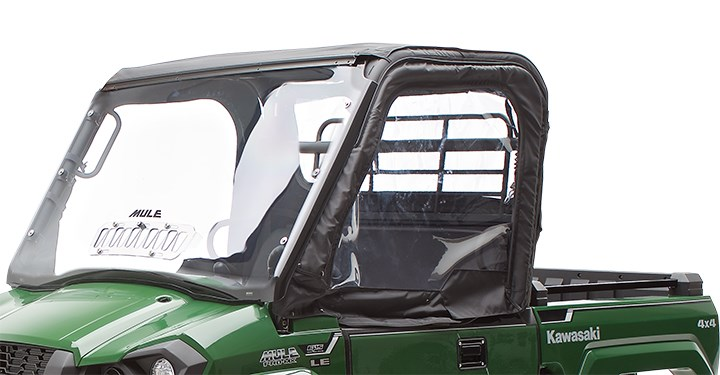 Soft Cab Enclosure Upper Door Set, Black detail photo 1