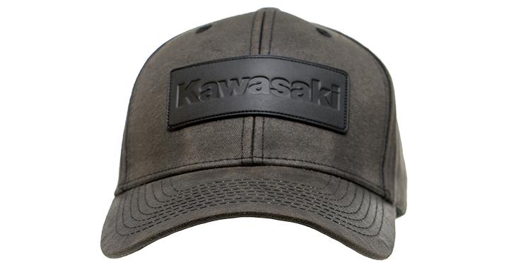 Casquette Kawasaki avec Ecusson en cuir detail photo 2