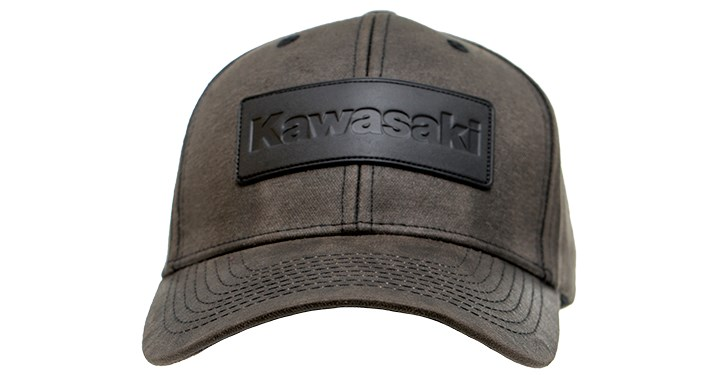 Kawasaki Leather Patch Vintage Cap detail photo 2