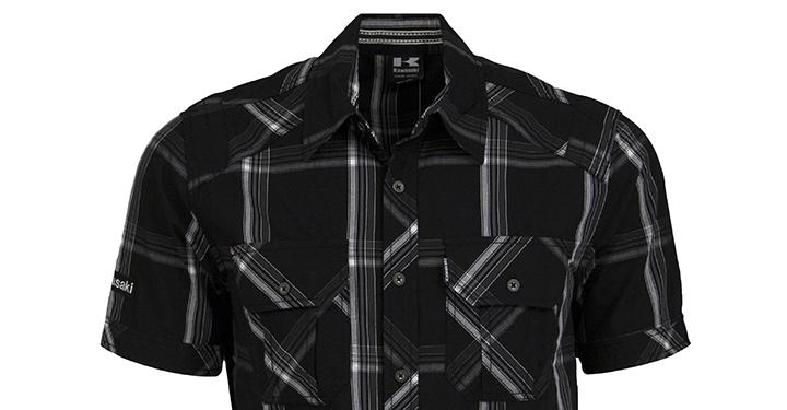 Chemise boutonnée à manches courtes Kawasaki detail photo 2