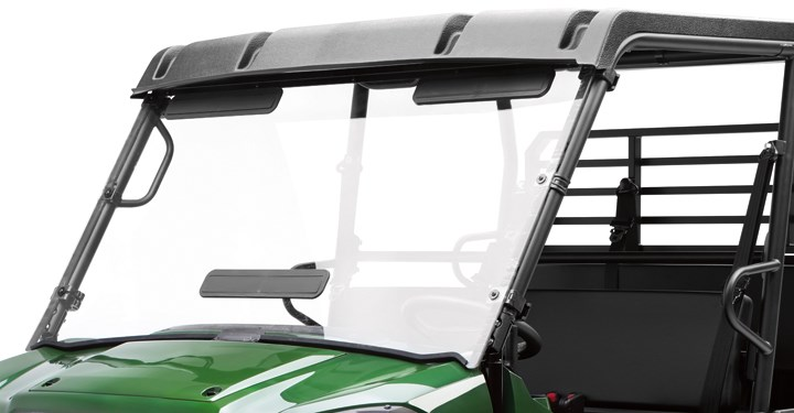 KQR Fixed Polycarbonate Windshield detail photo 1