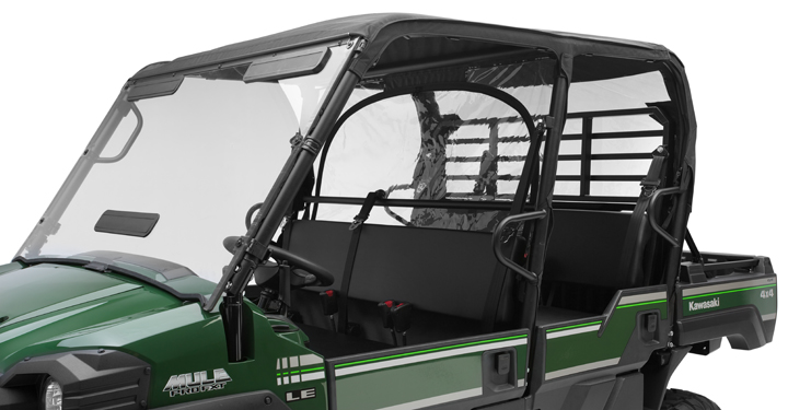 Soft Cab Enclosure Roof and Back, Black detail photo 2