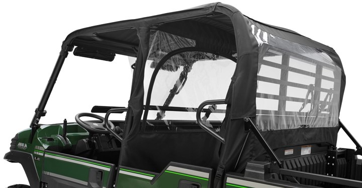 Soft Cab Enclosure Roof and Back, Black detail photo 3