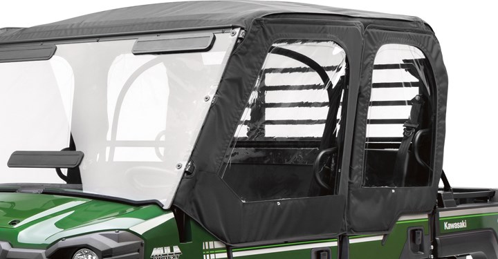 Soft Cab Enclosure Door Set, Black detail photo 1