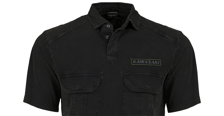 Kawasaki Vintage Polo Shirt detail photo 2
