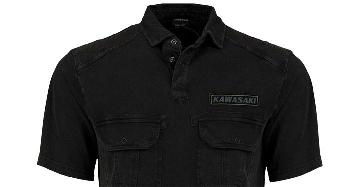 Kawasaki Vintage Polo Shirt detail photo 2