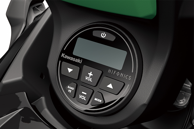 Kawasak's JetSound Audio System provides excellent background music to your good times on the water!