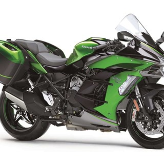 "The 2020 Ninja H2 SX SE wins ""Best-Looking Motorcycle"" in the Tour-Sport Touring category"