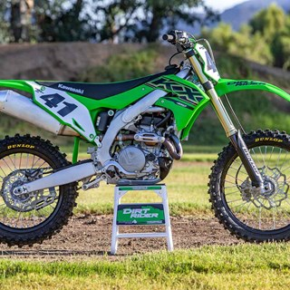 The 2021 KX450 wins the Dirt Rider 450 Shootout