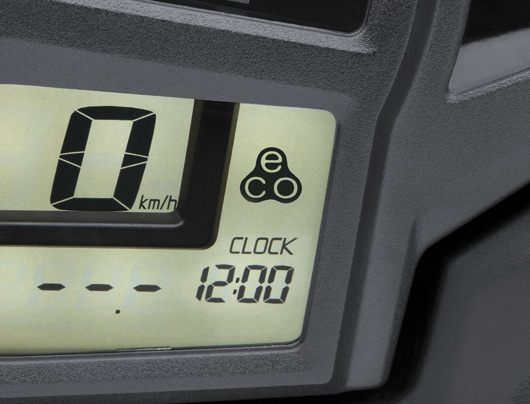 Economical riding indicator on console screen